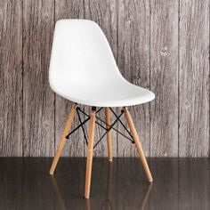 Dining room table chairs –Retro Chair in White –somewhat less then the Eames DSW chair...