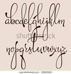 calligraphy alphabet - Pesquisa Google                                                                                                                                                                                 Mais