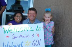 Children's Miracle Network Hospitals CEO, Mr. John Lauck visits San Angelo.  John was welcomed by Sebastian and Reagan to Walmart #601