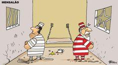 Condenados do Mensalão na prisão