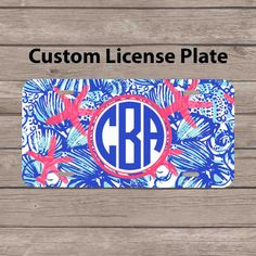 Custom Personalized License Plate. Monogrammed license plates are a great way to add a personal touch to your car and also make great gifts! Vibrant