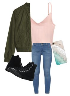 """""""Love this Casual Outfit Wish I could buy it🔥🔥"""" by favouro on Polyvore featuring Dorothy Perkins, Converse and Gray Malin"""