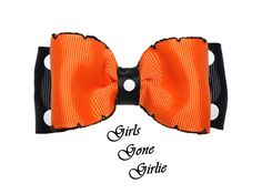 Halloween hair bow baby Halloween hairbow by GirlsGoneGirlie Halloween Hair Bows, Toddler Halloween, Ribbon Hair Bows, Baby Bows, Polka Dots, Anti Wrinkle, Trending Outfits, Handmade Gifts, Ship