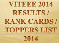 The D-Day for a total of 1, 93, 790 aspirants who had appeared the VIT Engineering Entrance Exam (VITEEE) 2014 is finally here. VIT University has announced the results of VITEEE exam along with cut off marks for all categories on April 30, 2014 at 8:00 p.m.