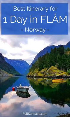 Best one day itinerary for Flam area in Norway. #Flam #Norway