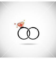Diamond ring vector wedding bands by Liubou on VectorStock®
