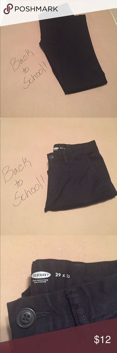 Old Navy Skinny men's black khakis 29 x 30 Old Navy Skinny men's black khakis. Worn just a few times - like new. Old Navy Pants Chinos & Khakis