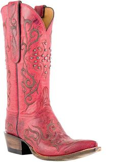 RED Western Cowboy Boots I Love