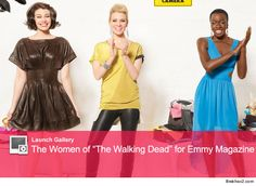 The women of The Walking Dead - all glammed up for Emmy Magazine