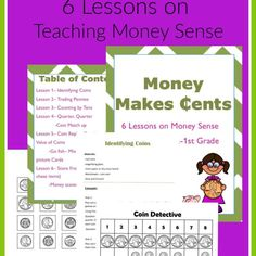 Teaching Money in Kindergarten-First Grade, 6 lesson plans on beginning Money sense perfect for co-op classes or small groups.