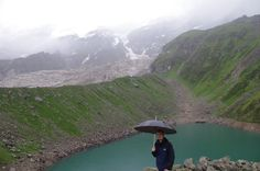 Satopanth Glacier Lake is located in the state of Uttarakhand and nestled between the snow coated mountains at an elevation of 4,600 m above sea level.
