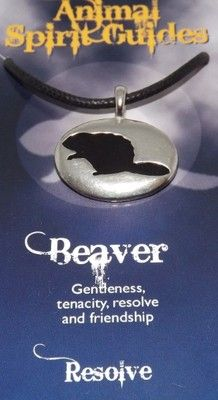 Animal Spirit Guide Beaver Totem Amulet Pendant (Native American)