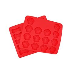 Peicees 2pcs Silicone Puppy Paws  Bones Combo Pack Baking Molds * Check out the image by visiting the link.