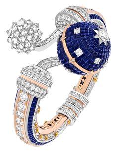 Van Cleef And Arpels Jewelry, Van Cleef Arpels, High Jewelry, Luxury Jewelry, Bracelet Watch, White Diamonds, Jewelry Design, White Gold, Bling