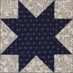 Civil War Quilts: Stars in a Time Warp 8: Indigo Blue