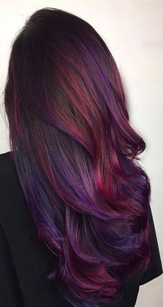 Purple and Magenta Balayage