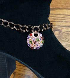 Women Boot Bracelet Silver Metal Chain Bling Anklet Shoe Follow Your Heart Charm