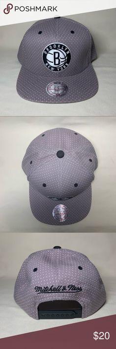 a065305e2501f Brooklyn Nets Dotted snapback hat NBA Brooklyn Nets dotted Mitchell   Ness  snapback hat Mitchell