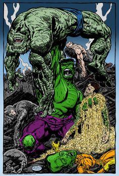 #Hulk #Fan #Art. (Hulk Wins. Color) By: RogerOtt. ÅWESOMENESS!!!™ ÅÅÅ+