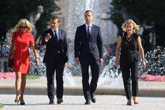 Séance photo pour Brigitte et Emmanuel Macron et leurs homologues Christian Kern et son épouse Eveline