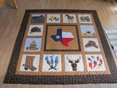 Texas customer quilt. My mom made this!