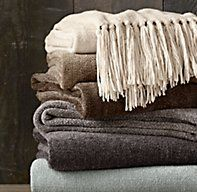 5-LB. Chenille Solid Throws $79 Silver Sage RH