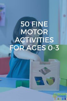 Get this free printable of 50 fine motor activities for children ages years old, including babies, toddlers, and young preschoolers. Proprioceptive Activities, Visual Motor Activities, Toddler Fine Motor Activities, Activities For 1 Year Olds, Occupational Therapy Activities, Autism Activities, Sensory Activities, Hands On Activities, Kindergarten Activities