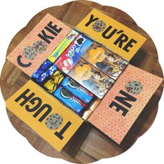 you're one tough cookie deployment care package box filled with cookies Missionary Care Packages, Missionary Mom, Deployment Care Packages, Deployment Gifts, Military Deployment, Creative Gifts, Cool Gifts, Diy Gifts, College Gifts