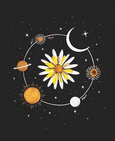 Ideas modern art prints illustration graphic design for 2019 Art And Illustration, Illustrations, Arte Inspo, Kunst Inspo, Art Sketches, Art Drawings, Pencil Drawings, Geometric Tatto, Moon Art