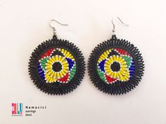 NAMACICI - Zulu Beaded Earrings - black by ZuluBeadz on Etsy The New School, New School Year, Beaded Earrings, Crochet Earrings, Zulu Women, African Children, Kwazulu Natal, Good Cause, Happy Shopping