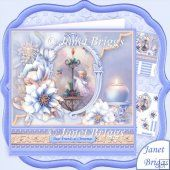 Frosted Florals Candlelight 8x8 Christmas Decoupage Kit