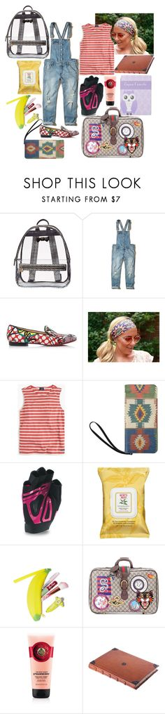 """Untitled #816"" by yasm-ina ❤ liked on Polyvore featuring Betsey Johnson, Hollister Co., Christian Louboutin, Saint James, Under Armour, Burt's Bees and Gucci"