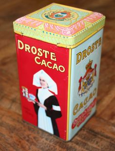 Vintage Droste Cacao Collectible Tin. Such pretty lithographs! www.MoraApproved.com