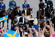 The Princess Couple's cortège to Riddarholmen. On Saturday 8 June 2013, Princess Madeleine and Mr. Christopher O'Neill were married in the Royal Chapel at the Royal Palace of Stockholm.