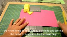 "How to make larger bags with ""We R Memory keepers"" gift bag punch board"