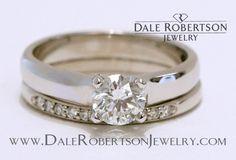 Complete custom, simple elegance, diamond with diamond band