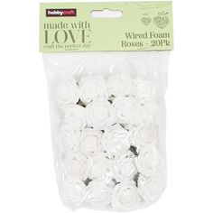 White Wired Rose Heads 20 Pack | Hobbycraft