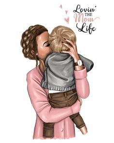 45 Ideas For Baby Drawing Illustration Paintings Mother Daughter Art, Mother Art, Mom Son, Mother And Child, Mom And Baby, Baby Love, Girly M, Illustration Mode, Illustration Fashion