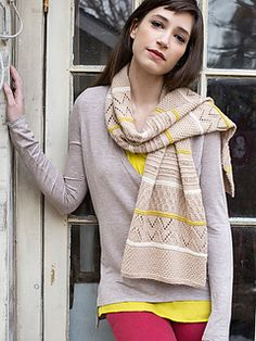 To-Ji is an experiment with texture and color knit into a fabulous scarf.