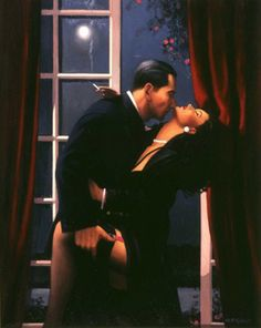 """Night Geometry"" by Jack Vettriano. First exhibited n 1996."
