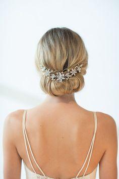 Bridal Hair Accessory, Crystal Hair Swag, Wedding Hair Vine