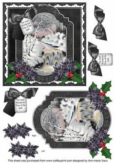 Christmas Stream Wonderful Time 6in Christmas Step by Step on Craftsuprint - Add To Basket!                                                                                                                                                                                 More