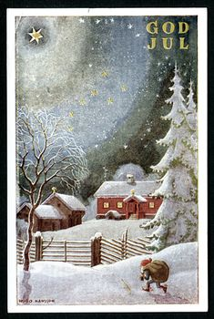 Vintage Christmas cards by Hugo Hansson
