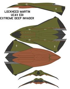 lockheed martin UCAV EDI Extreme Deep Invader In 2016, the United States Navy develops a program to deal with international terrorists and other enemies of the state quickly and quietly; in additio...