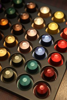 Have this brilliant box filled with Nesspresso  capsules. They have 25 different blends. Nespresso