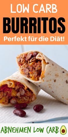 Mit diesem Rezept kannst du dir endlich diese mega leckeren Low Carb Burritos g. With this recipe you can finally treat yourself to these mega delicious low carb burritos and lose them super! Burritos, Healthy Dinner Recipes, Low Carb Recipes, Vegetarian Recipes, Delicious Recipes, Summer Recipes, Keto Snacks, Healthy Snacks, Le Diner