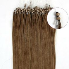 "2012 New Products 18"" Human Hair Extensions Remy 100s Double Silicone Rings Beads Tipped 0.6g 100s 10 Medium Ash Brown in Women's Health Beauty Hot by lilu. $39.00. Can be curled, straightened, tongued & washed. Adds instant length and volume. 100% remy human hair extensions and very competitive price.. We guarantee 100% human hair AND Loops tipped ,We guarantee 100% human hair could be applied with micro rings. Kindly Remind ,this is US registered certified B..."