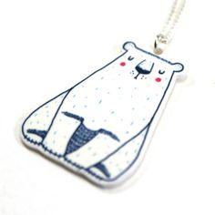 Polar Bear Necklace Polar Bear Jewellery Polar por TheVulpeculiar