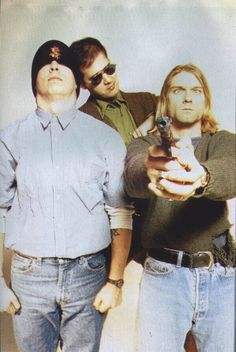 Nirvana . Cobain looks insane for real!! What was this photographer thinking…