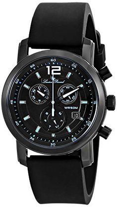 Men's Wrist Watches - Lucien Piccard Mens LP12585BB01BBLA Toules Analog Display Swiss Quartz Black Watch >>> Click image to review more details.
